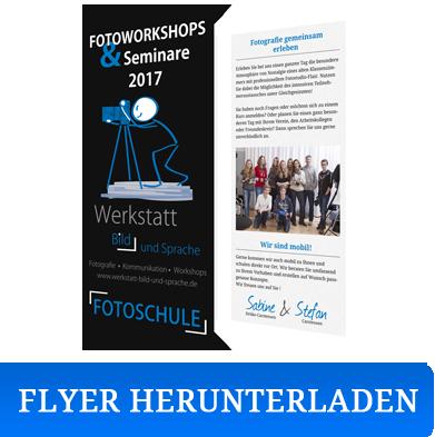 Flyer Fotoworkshops 2017 - Werkstatt Bild und Sprache